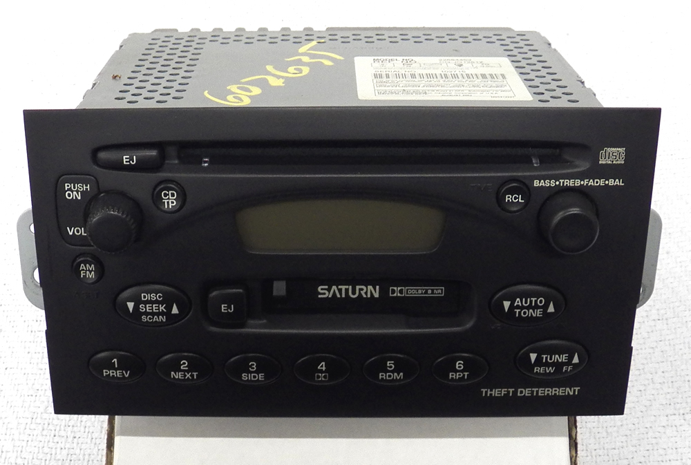 00 03 saturn s l ion vue single disc cd cassette player radio ebay